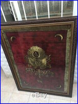 Turkey Turkish Ottoman Empire Coat of Arm Silk Gold Thread Atlas Fabric