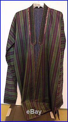 Txt63 VINTAGE TURKOMAN AFGHAN CHAPAN coat with long sleeves tribal robe