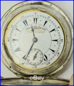 Unique antique Oriental military officer award silver&enamel watch. Shah Mozaffar