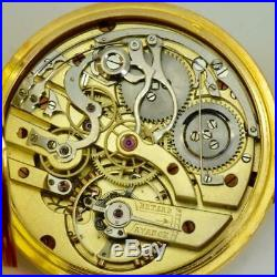 Unique gold&Diamonds Chronograph watch by Patek Philippe's director Jean Pfister