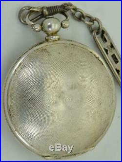 Unusual&rare antique silver R&G. Beesley pocket watch&chain for Ottoman market