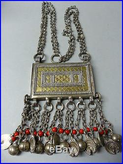 Very Beautiful Quality White & Yellow Metal Necklace Omani Wedding Rare L@@k