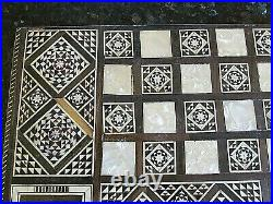 VINTAGE BEAUTIFULLY INLAID BACKGAMMON SET PERSIAN (Ref5656)