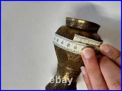 Vase Antique Cairoware Mamluk Persian Islamic Arabic Brass Copper Museum quality
