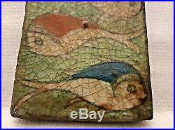Very Rare Antique Persian Islamic Tile Art Ceramic Fish