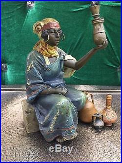 Very Rare Franz Bergman Austrian Vienna Bronze Orientalist Ottoman Arab Lady