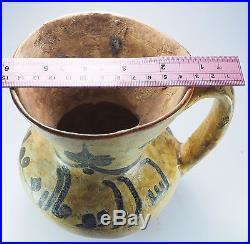 Very Rare Old Islamic Caligraphic Writing Ceramic Ewer #Sh13