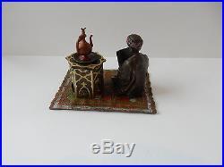 Vienna Cold Painted Bronze Depicting Arab Scholar Inkwell Signed Bergman