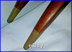 Vintage 46 Oval Brass Moroccan Coffee Table Mid Century Foldable Spider Legs