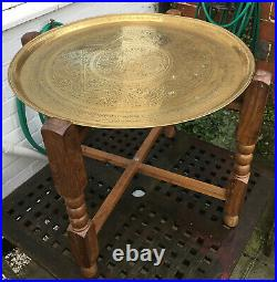 Vintage Brass Topped Table
