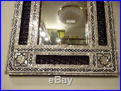 Vintage Egyptian MOP Inlaid Mirror Middle Eastern Syrian Style Inlay Frame