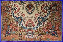 Vintage Estate Found 1940s/50s Middle Eastern Arabesque Throw Rug 56.5 x 36.5