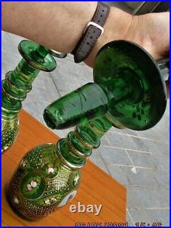 Vintage Glass Decanters Islamic/Persian Shah Mozaffar ad-Din Shah Qajar