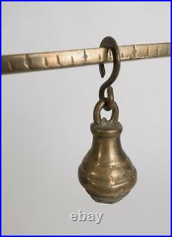 Vintage Hanging Balance Scale Middle Eastern Metal Antiques