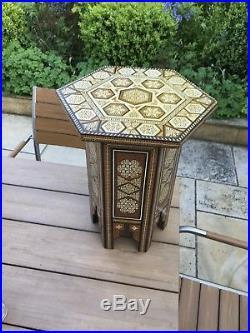 Vintage Inlaid Islamic Table