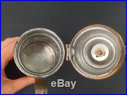 Vintage Islamic Arabic Turkish Greek Finjan Brass Coffee Tea Pot Middle Eastern