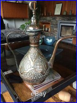 Vintage Persian / Islamic / Middle Eastern Dallah Coffee Pot in Copper