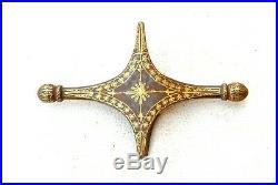Vintage islamic turkish gold damascened iron shamshir kilij sword crossguard