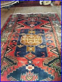 Vintage middle eastern Hand woven Woollen Rug