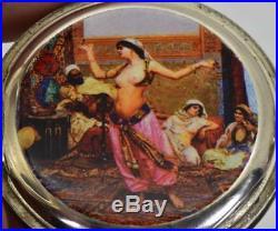 WOW! One of a kind antique Ottoman Erotic silver&enamel Ocean watch c1890'a