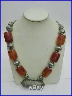 Yemeni Necklace Antique Silver Handmade Bedouin Yemen Vintage Tribal Beauty Old