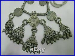 Yemeni Necklace Silver Antique Vintage Bedouin Tribal Yemen Handmade Choker Nice