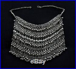 Yemenite Bedouin Yemeni Necklace Antique Bib Yemen Silver Labba Choker Jewelry