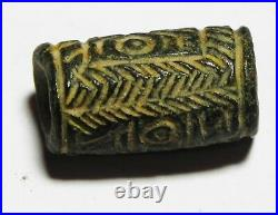 ZURQIEH -as6534- ANCIENT HOLY LAND, CANAANITE STONE CYLINDER SEAL. 1300 B. C