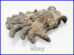 Zurqieh As9997- Ancient Roman Bronze Applique Of Pan. Large. 100 200 A. D
