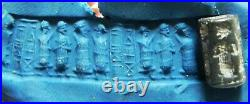 Zurqieh -as13494- Ancient Canaanite. Stone Cylinder Seal. 1550 1200 B. C